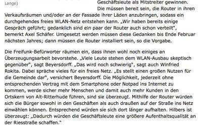 Freier Netzzugang soll Riesstraße beleben